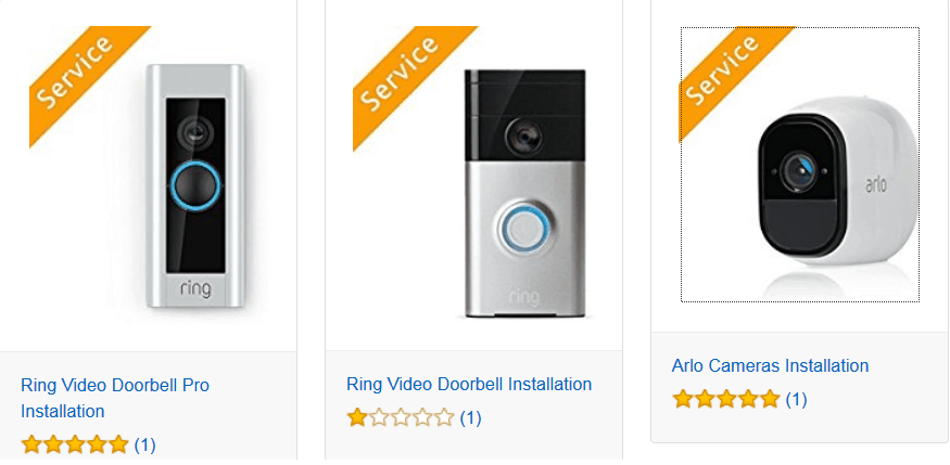 Amazon Home Services security section