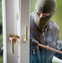 Burglary in an unprotected home