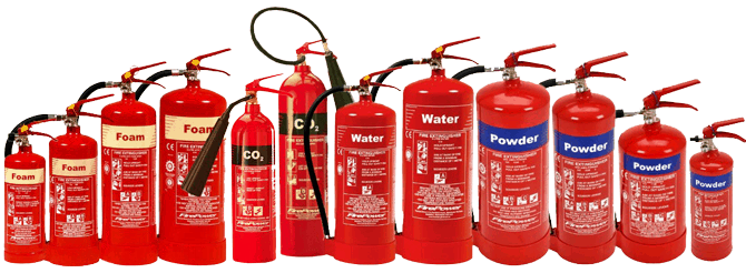 Fire extinguishers for different kind of fires