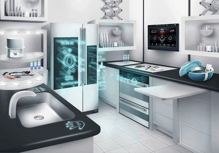 the design of a futuristic wi fi operated kitchen - Secure Home Design