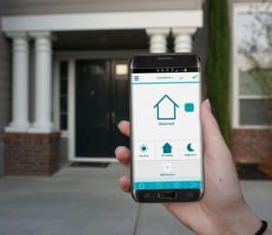 Arming your home security alarm using app
