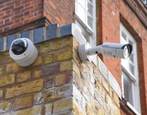 Camera security net on someone's home