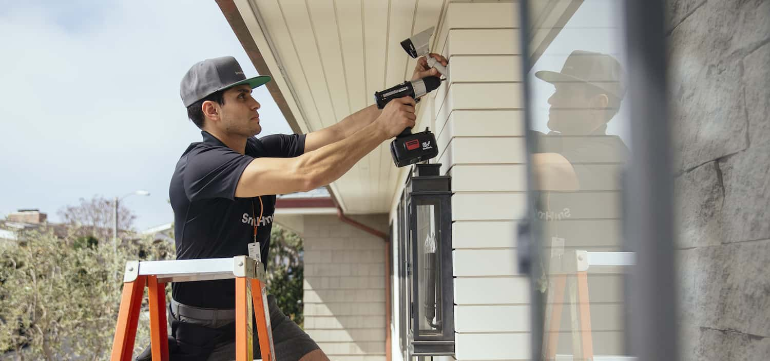 Installing security camer on a property