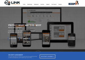 The homepage of Link Interactive