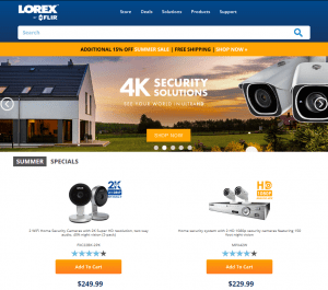 Lorex homepage