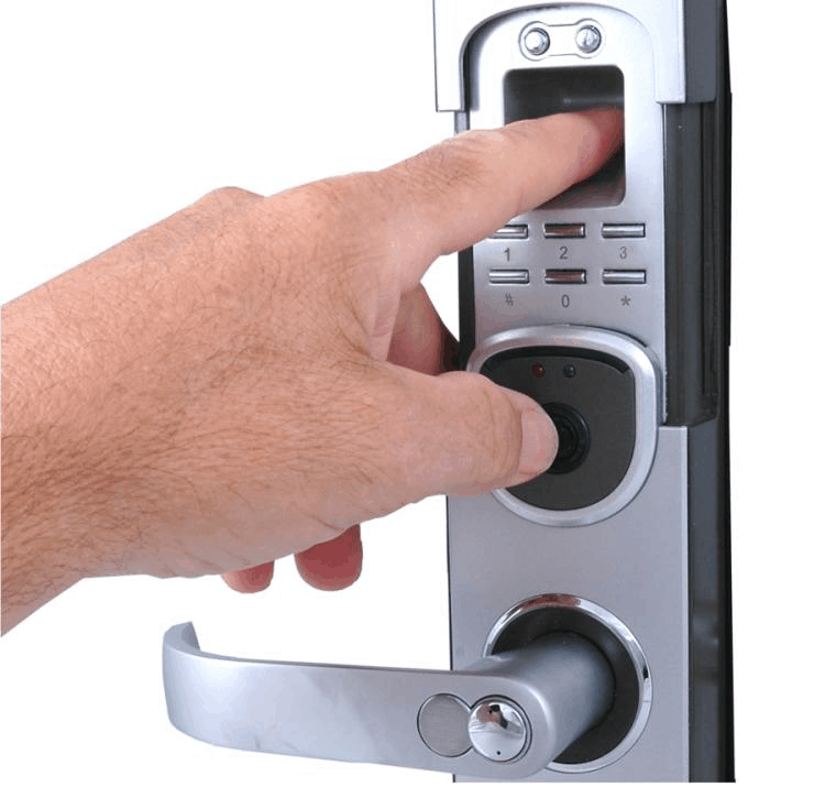 The method of opening a biometric lock with a finger  sc 1 st  Best Home Security Systems Reviews - Best Reviews & Best Biometric Fingerprint Door Locks for Homes - Best Reviews