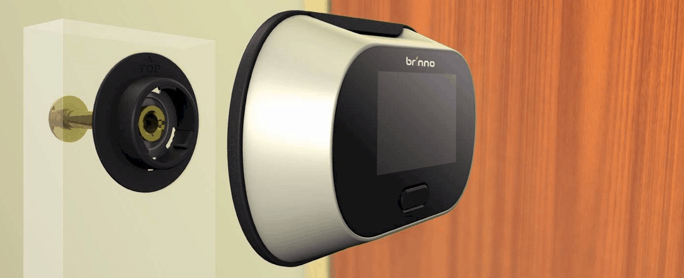 All you need is an existing traditional peephole in the door or a suitably sized gap in the door for the flange. & Best Door Peephole Door Viewer Cameras - Best Reviews
