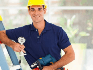 Professional technician installing a camera