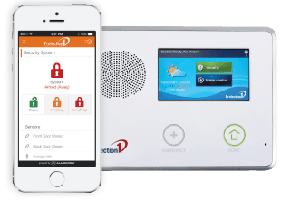 The console and smarthpone app of Protection 1