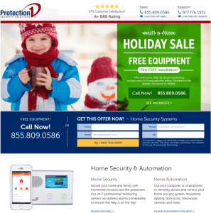 The homepage of Protection 1