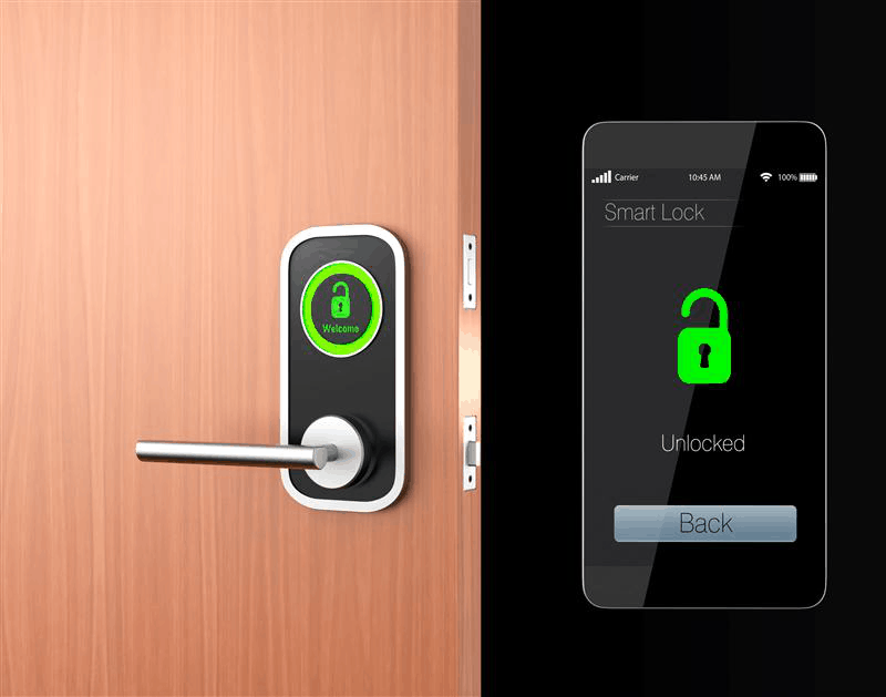 A Smart Lock Controlled By A Smartphone