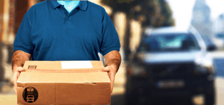 A stranger delivering a package to your home