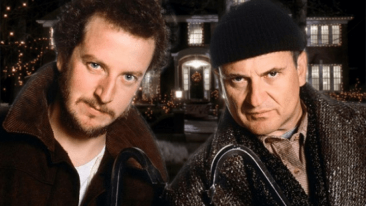 The infamous Wet Bandits from the movie Home Alone