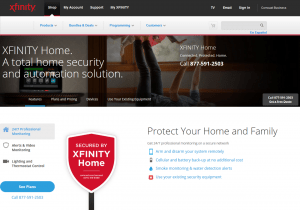 The homepage of XFINITY Home
